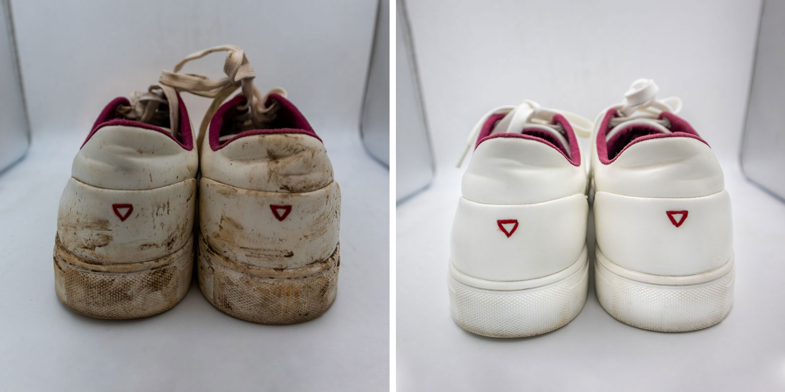 guess jeans shoe before after