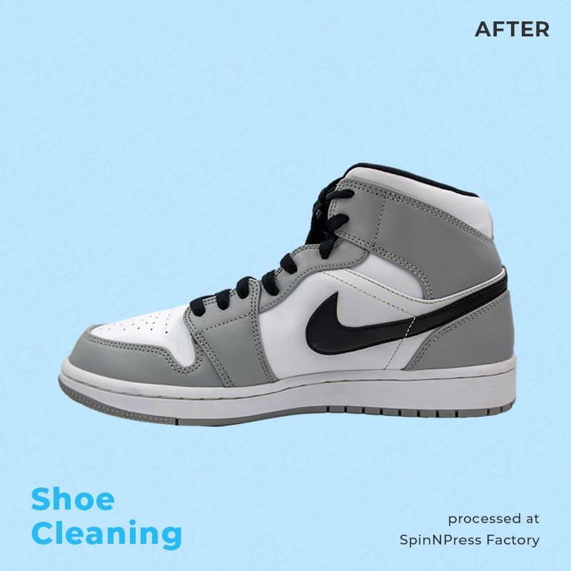 Image of after cleaning nike jordan grey