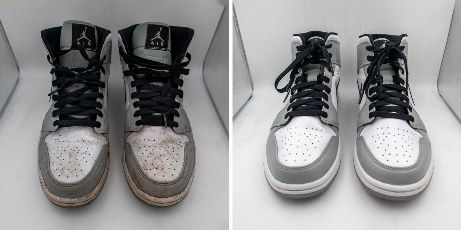 Jordan shoe cleaning before after